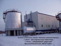 Блочно-модульное здание станции водоподготовки, производительностью 600м.куб./сут